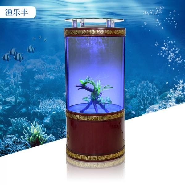 家用水族箱中型创意靠墙金鱼缸