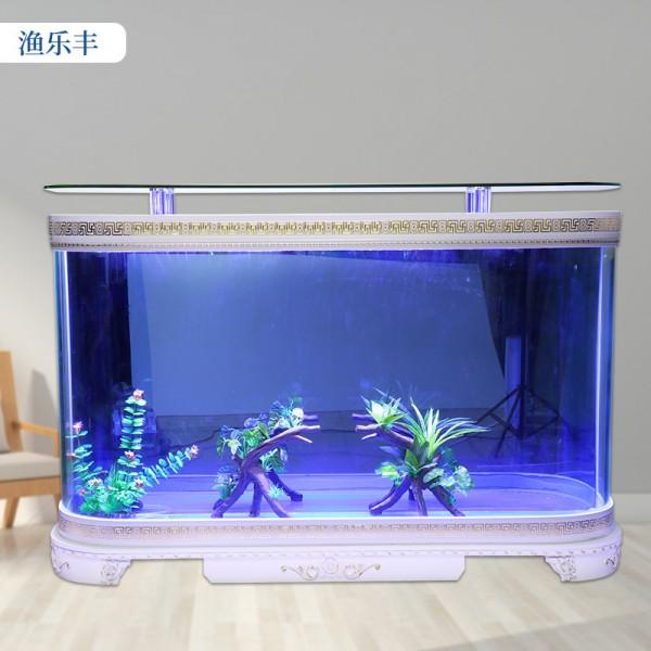 家用超白玻璃生态金鱼缸欧式鱼缸