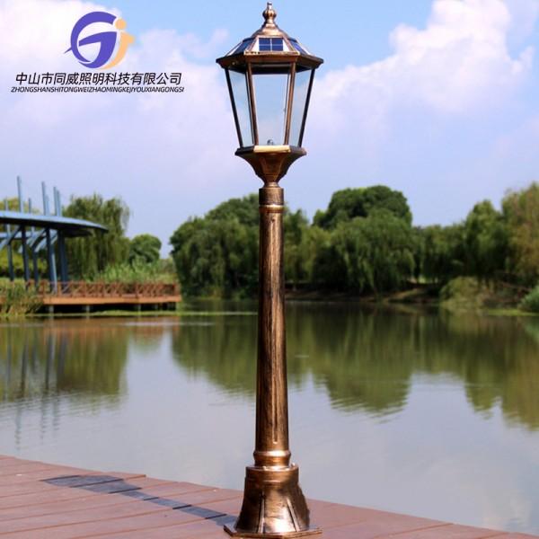 太阳能庭院灯户外防水家用园林景观路灯