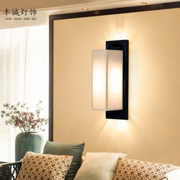壁灯-简约卧室床头布艺过道灯