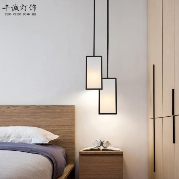 餐厅卧室床头灯现代简约酒店创意铁艺吊灯