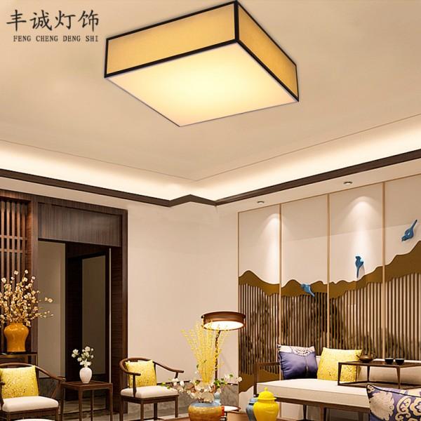 复古风led方形客厅灯卧室餐厅吸顶灯