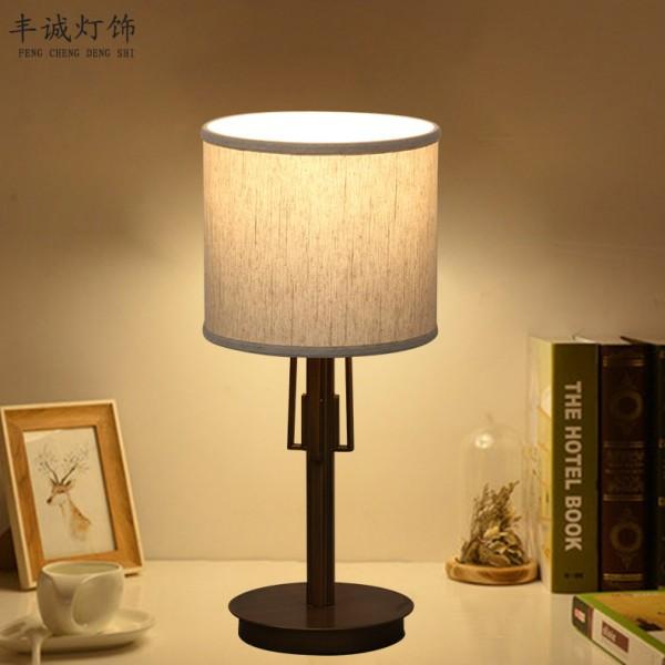 新中式LED台灯卧室床头灯