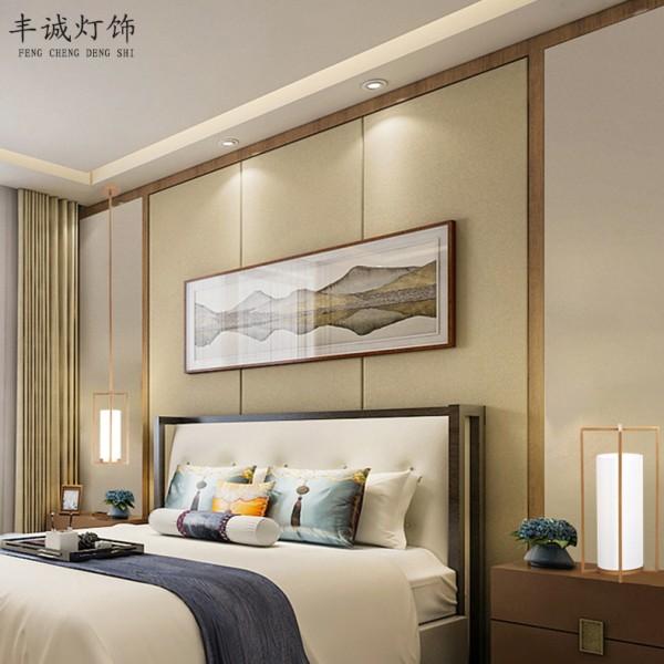 新中式吊灯布艺现代简约卧室客厅灯